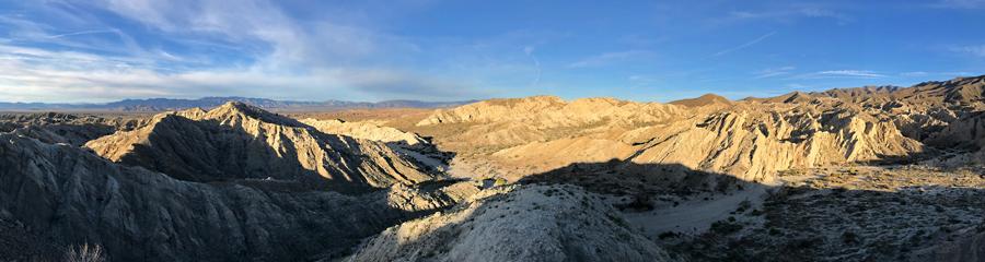 Borrego Badlands at Anza-Borrego SP in CA