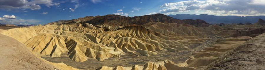 Zabriskie Point at Death Valley NP in CA