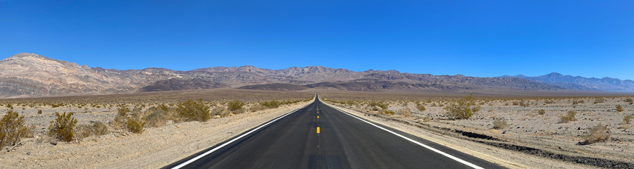 Hwy 190 at Death Valley in CA