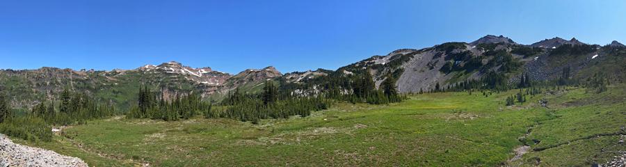 Goat Lake at Goat Rocks Wilderness in WA
