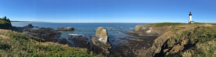 Yaquina Head at Pacific Coast in OR