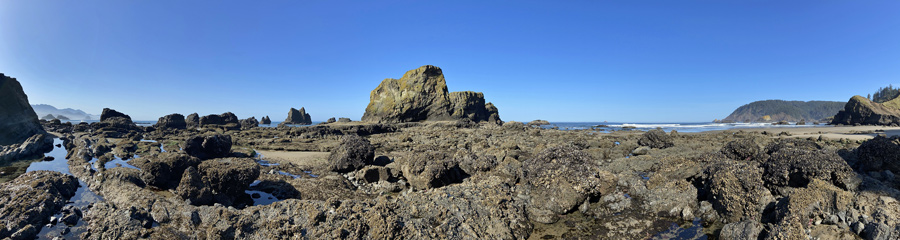 Ecola Point at Pacific Coast in OR