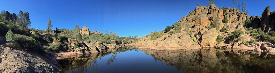 Bear Gulch Reservoir at Pinnacles NP in CA