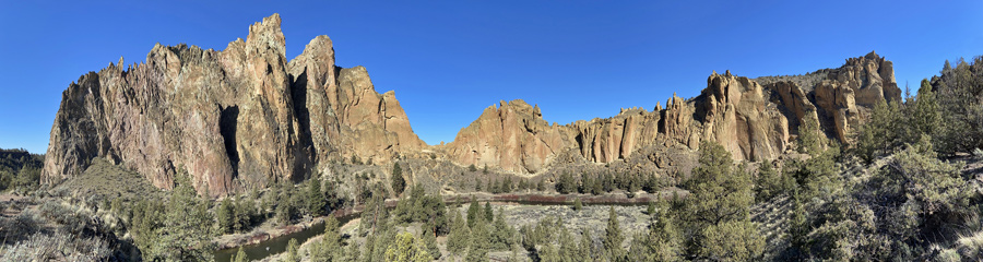 Smith Rock and Crooked River in Central OR