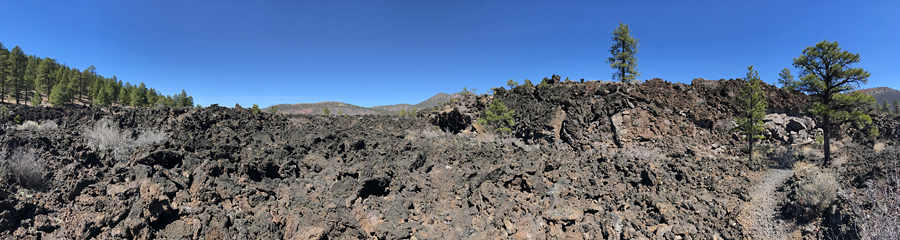 Lava Flow at Sunset Crater NM in AZ