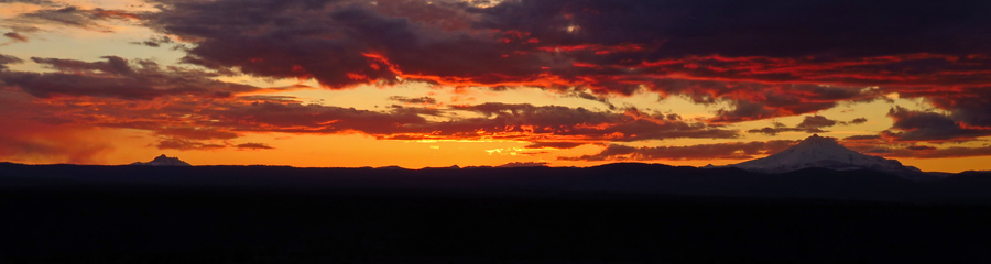 Sunset and Mt. Jefferson in Central OR